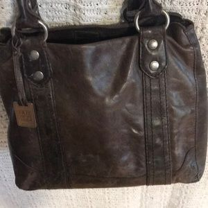 Frye Melissa Tote. Beautiful dark brown.